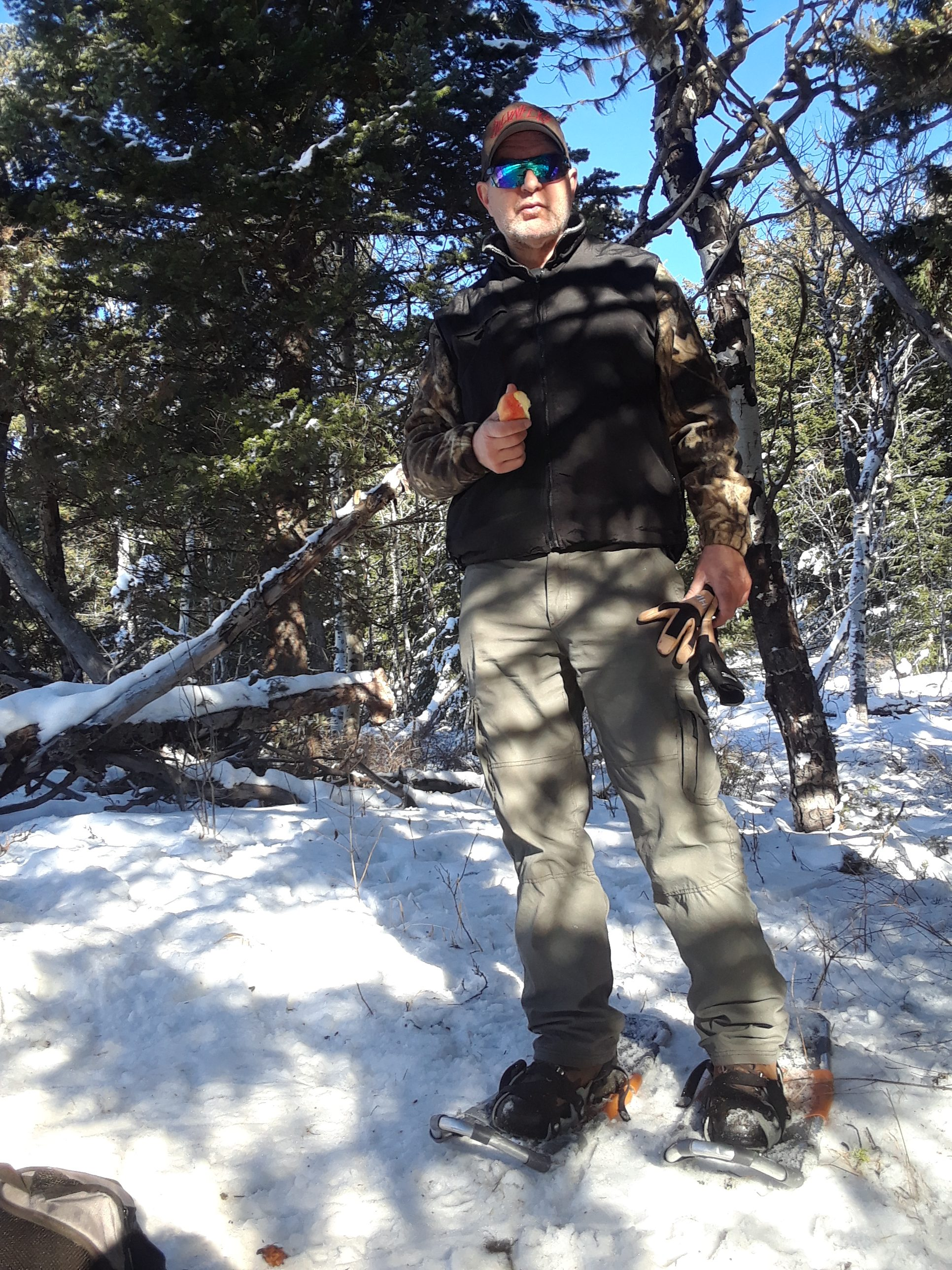 serious about ambrosias while snowshoeing