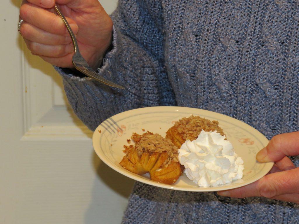 crust less ambrosia apple pie a la hasselback