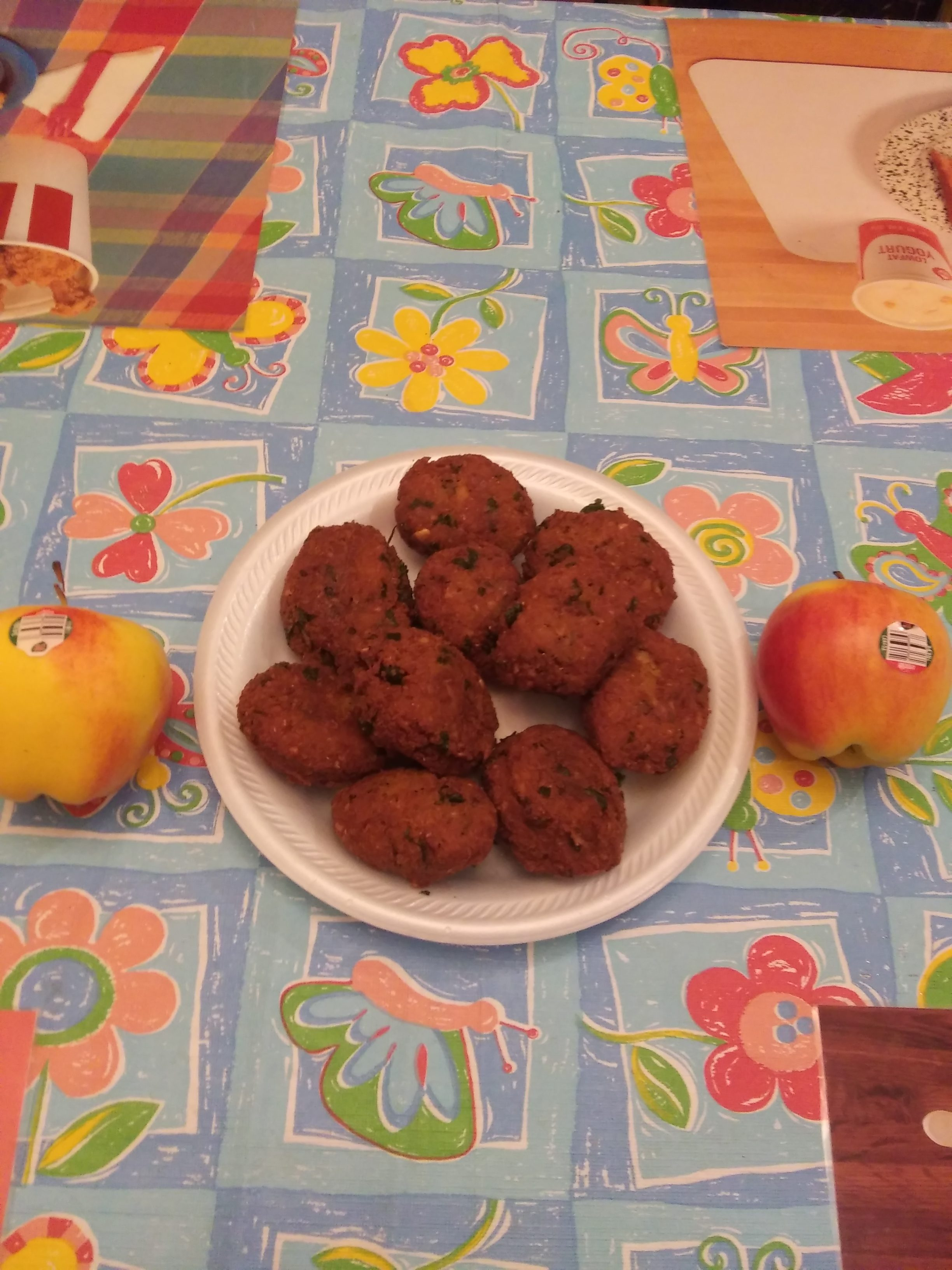 homemade ambrosia apple falafels