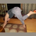 yoga for mental health and an ambrosia apple for physical health