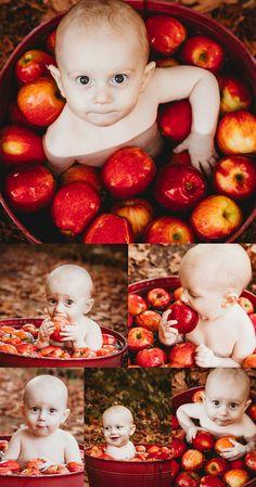 enjoying an ambrosia apple